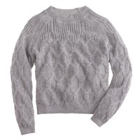 Nili Lotan® cable sweater in super baby alpaca