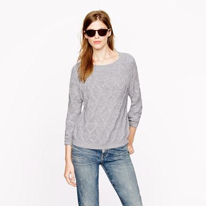 Nili Lotan® cable sweater in super baby alpaca