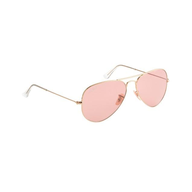 Ray-Ban® original aviator sunglasses with polarized pink lenses