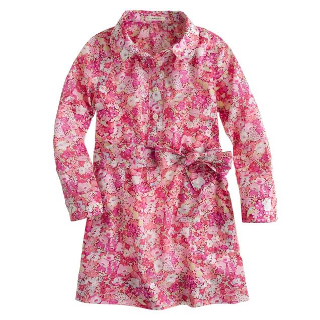 Girls' Liberty shirtdress in Thorpe floral