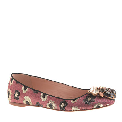 Nora jeweled printed ballet flats