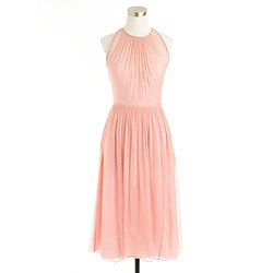 Petite Megan dress in silk chiffon