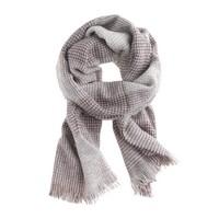 Patchwork grid scarf