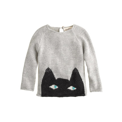 Baby Oeuf® peeking cat sweater