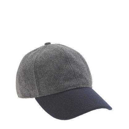 Colorblock wool baseball cap