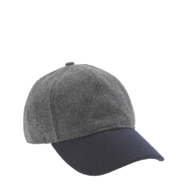 Colorblock wool baseball cap