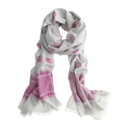Pink patterns scarf