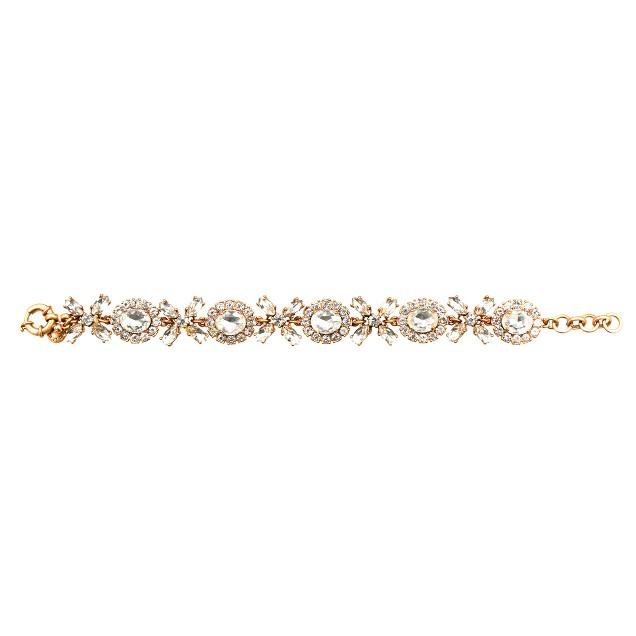 Crystal floral garland bracelet