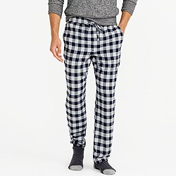 Flannel pajama pant in navy plaid