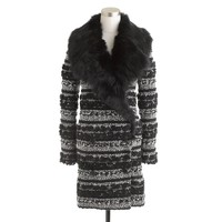 Collection Toscana shearling coat in pom-pom tweed