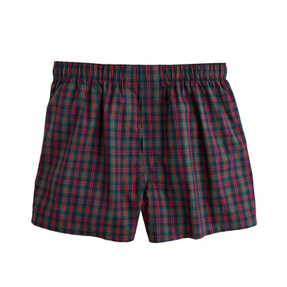 Boxers in hudson navy plaid