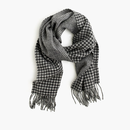 Cashmere double-faced scarf