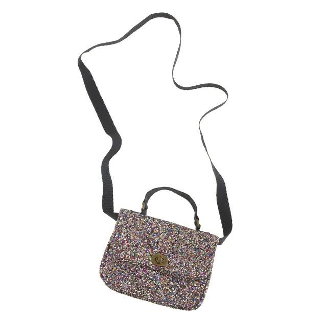 Girls' mini Edie glitter purse