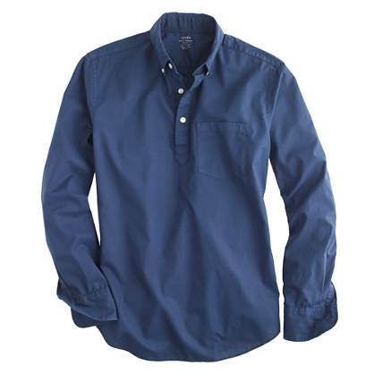Lightweight garment-dyed popover