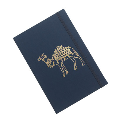 Gilded canvas notebook