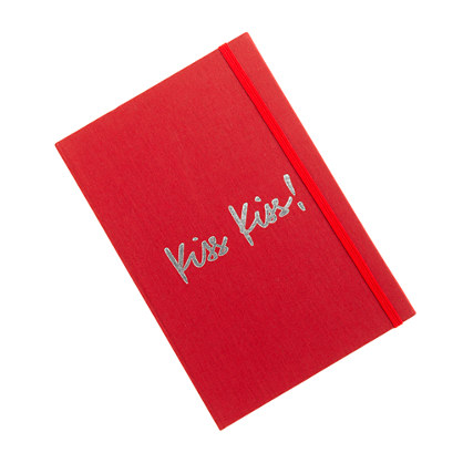 Inscribed canvas notebook