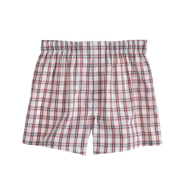 Boxers in white check