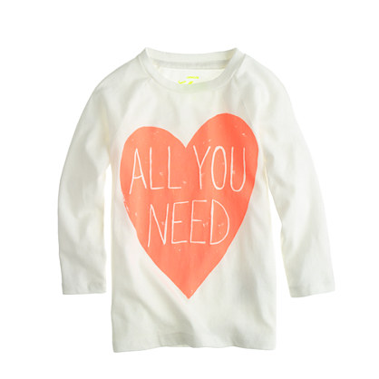 Girls' all you need tee