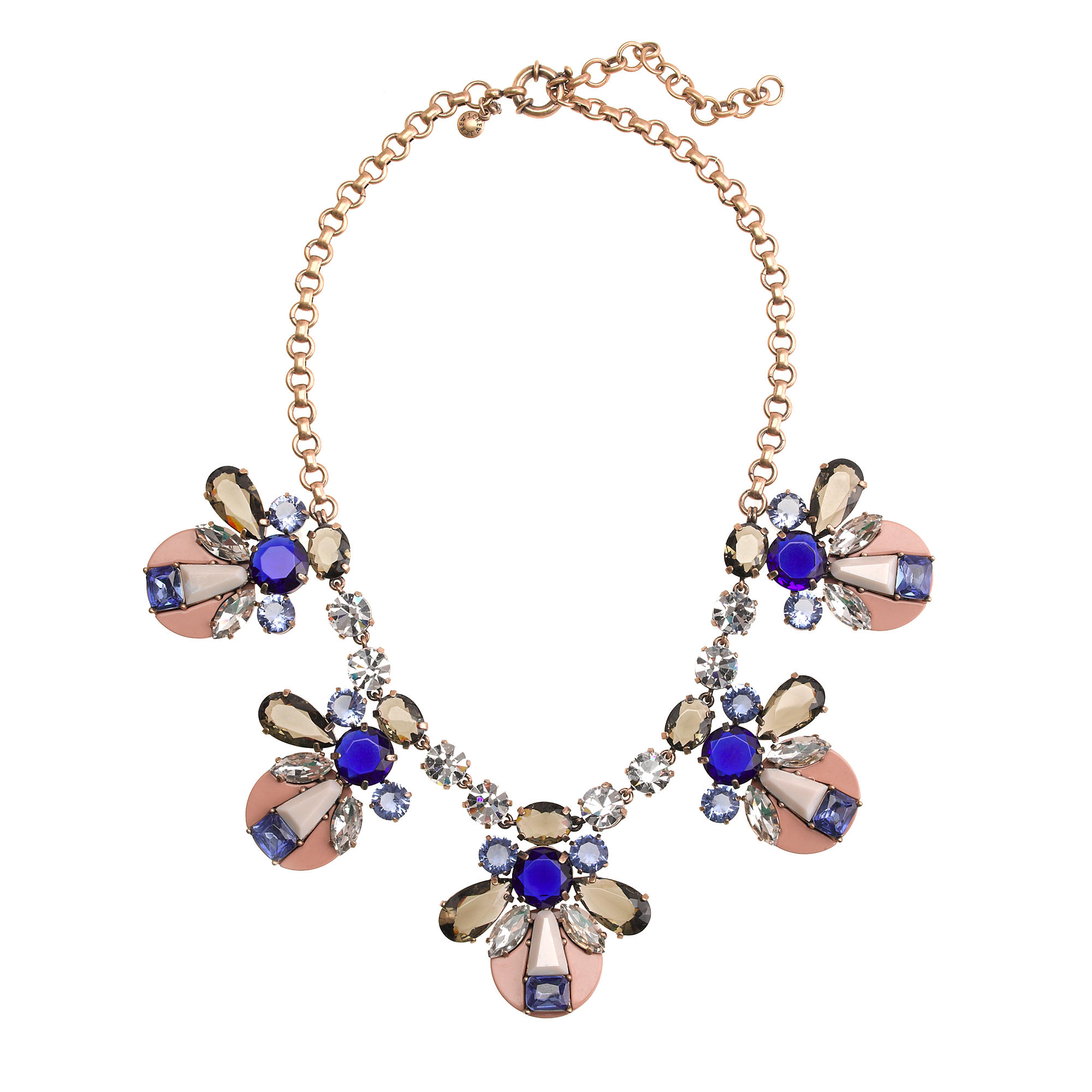 Mixed crystal and resin necklace j crew for J crew jewelry 2015