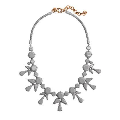 Coated stone necklace
