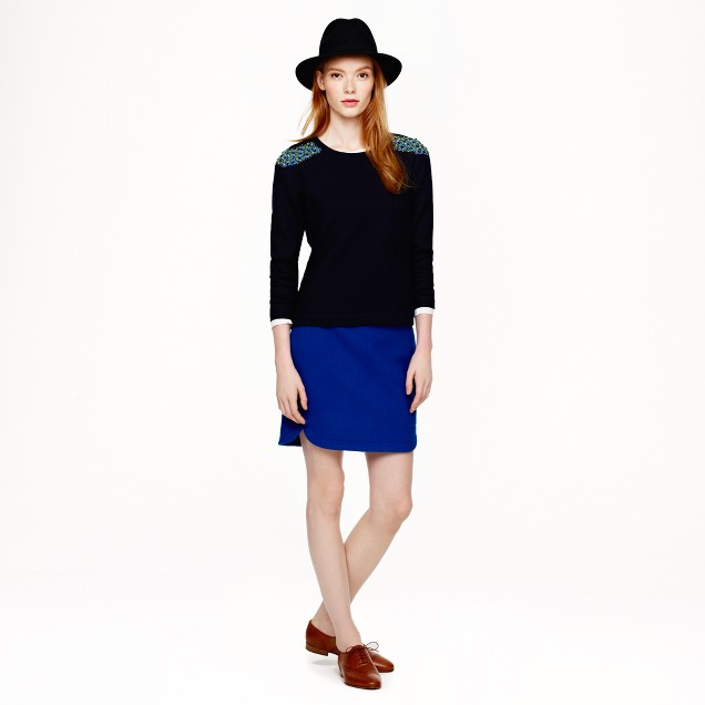 Shirttail mini in wool