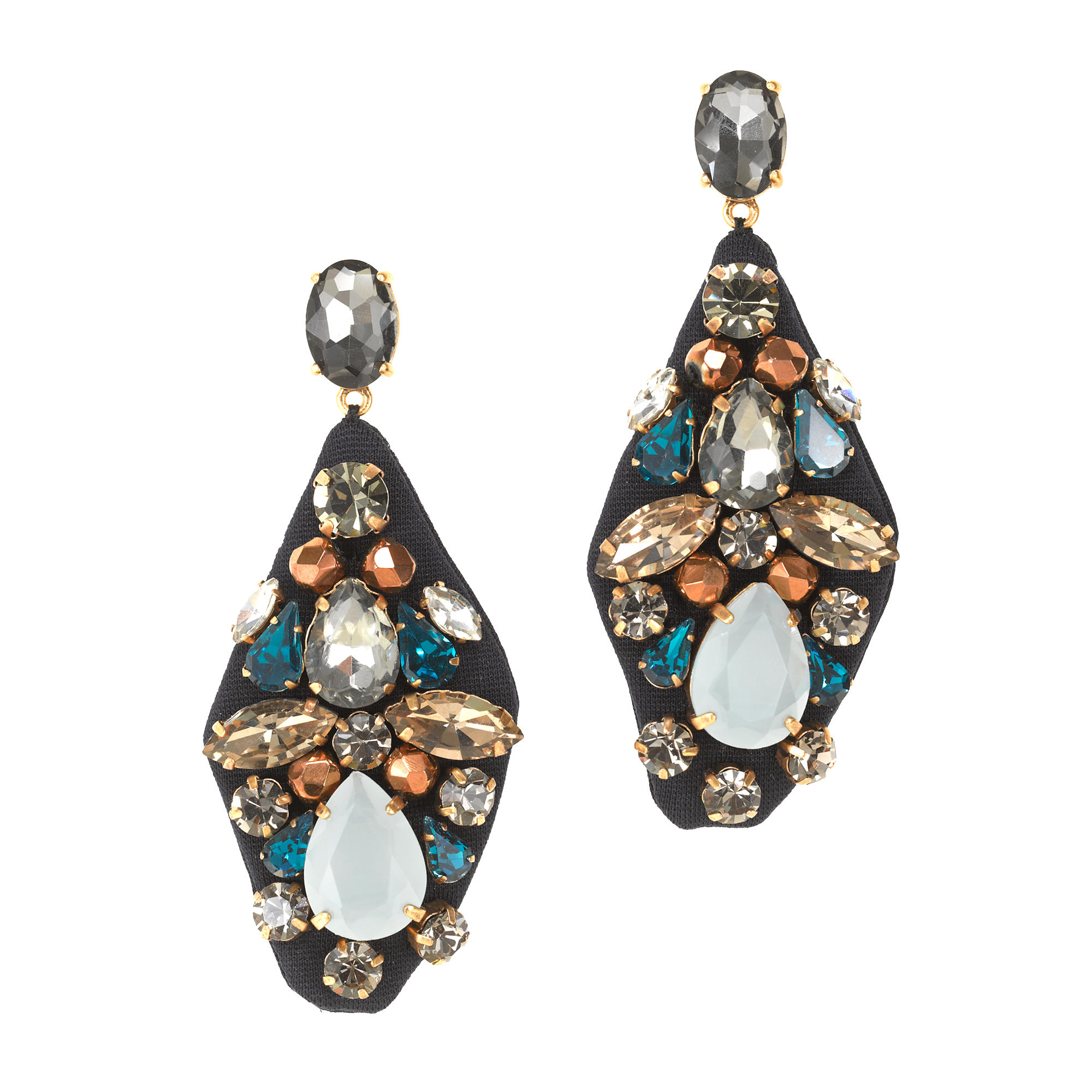Embroidered jewel earrings j crew for J crew jewelry 2015