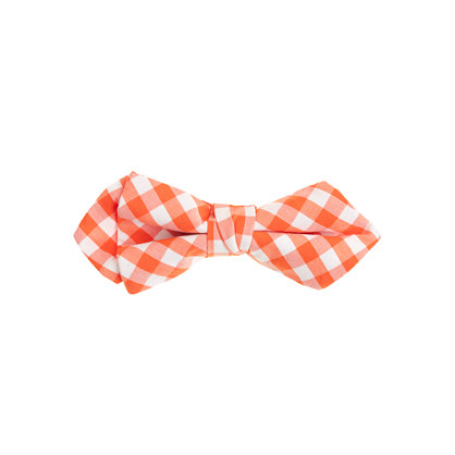Boys' cotton bow tie in classic gingham