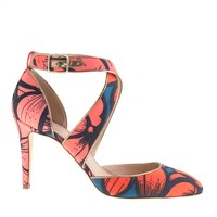 Collection Sloane printed crisscross pumps