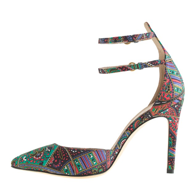 Collection Falsetto silk printed pumps