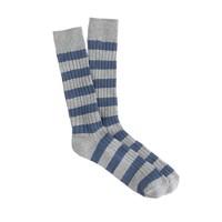 Ribbed striped socks