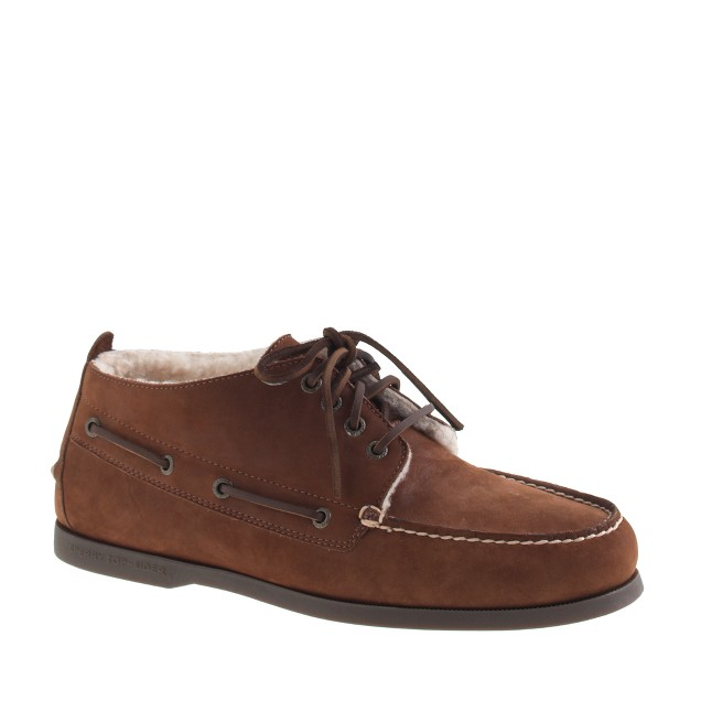 Sperry Top-Sider® shearling-lined nubuck chukkas