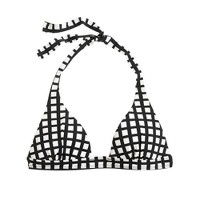 Windowpane sculpted halter top