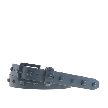 Painted stud leather belt