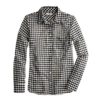 Crinkle boy shirt in black check