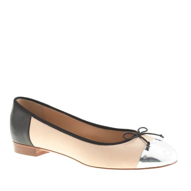 Kiki contrast cap toe ballet flats