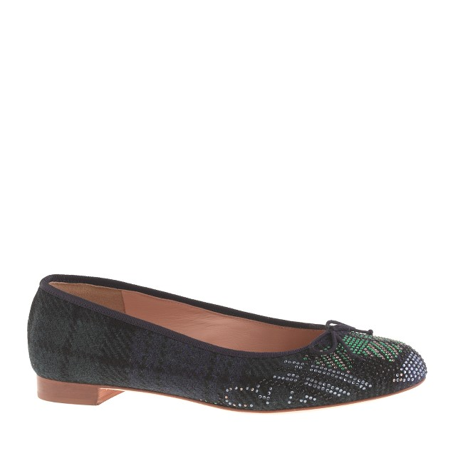 Collection Kiki plaid jeweled-toe ballet flats