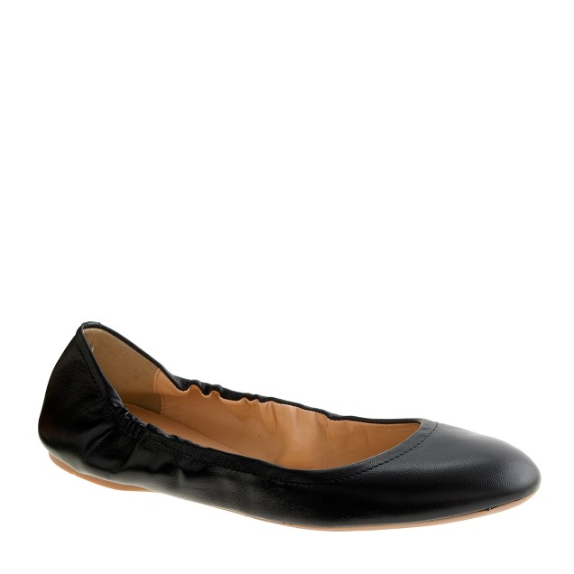 Emma leather ballet flats j crew for J crew bedroom slippers
