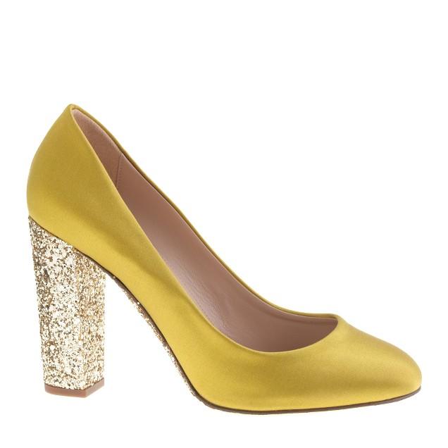 Collection Etta satin glitter-sole pumps