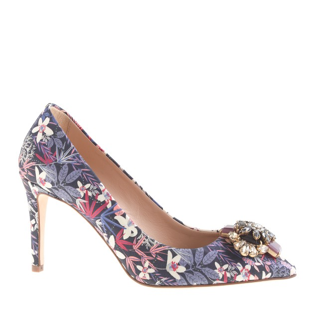 Collection Everly printed jeweled-toe pumps