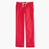 Petite pajama pant in polka-dot flannel