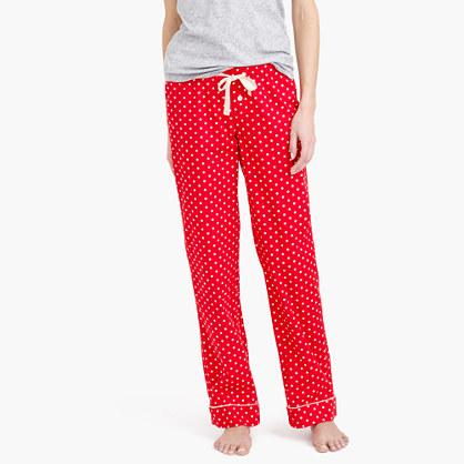 Pajama pant in polka-dot flannel