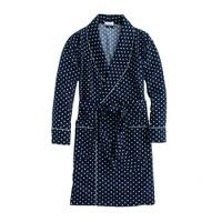 Robe in polka-dot flannel