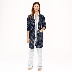Robe in polka-dot flannel