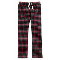 Pajama pant in navy plaid flannel