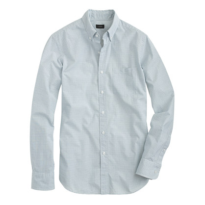 Slim Secret Wash shirt in mini-grid