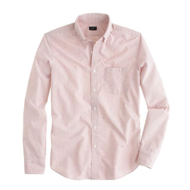 Slim Secret Wash shirt in mini-grid