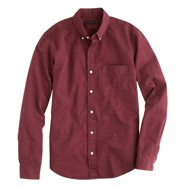 Slim shirt in cabernet dot
