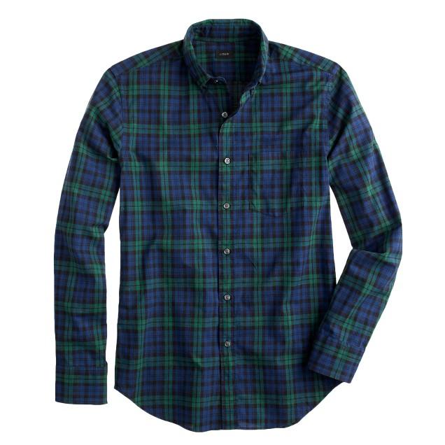 Slim Secret Wash shirt in heather plaid