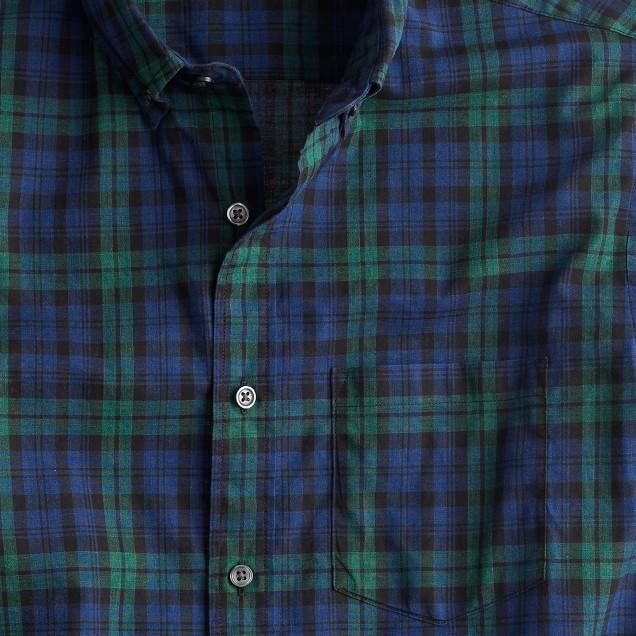 Secret Wash shirt in heather plaid