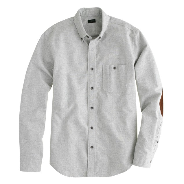 Heathered chamois elbow-patch shirt